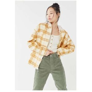 UO Vera Plaid Twill Hooded Zip-Front Jacket
